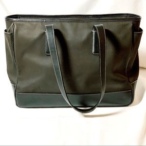 Coach Tote Bag Laptop / Baby Canvas and Leather